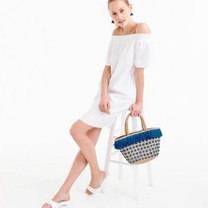 J. CREW Cotton Poplin Off Shoulder Summer Dress